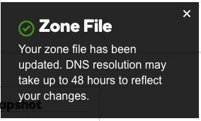Zone file check